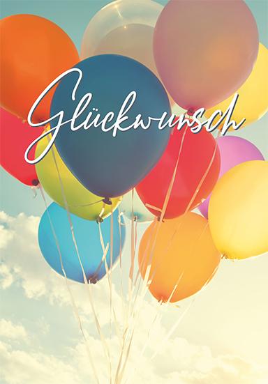 Motiv Glückwunsch Ballon